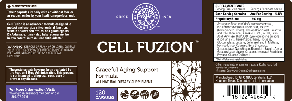 Cell Fuzion product label